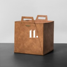 Magnolia_faux leather bin_34.99